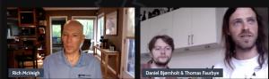 Rich and Daniel Bjornholt talking hobies